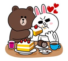 Sath me rehke or bhi aalsi ban jaye ge. Im not aalsi but power saving mode me he.😂😂😂😂😂😂 Brown & Cony's Cozy Winter Date – LINE stickers Cute Couple Cartoon, Cute Couple Art, Cute Love Cartoons, Cute Love Pictures, Cute Love Gif, Cony Brown, Brown Bear, Cartoon Stickers, Cute Stickers