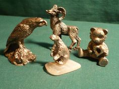 "#3577/8-Four (4) miniature pewter figurines-sizes 1.00""-2.00 - http://get.sm/mu8YZqy #tradebank General Merchandise,Hamilton ON"