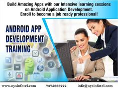 Want to learn Android with Machine Learning and newest Android P ? Join us at OYS InfoTel for Industrial Training & Internship in Android. Call : 7375888222 Web : www.oysinfotel.com