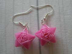 Straw earrings. #craftster