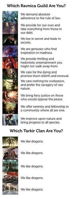 Which tarkir clan are you? MTG funny