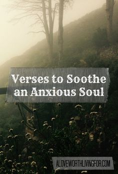 Verses About Anxiety: Verses To Soothe An Anxious Soul - What the Bible says to those who are struggling with anxiety. Here are verses for when you are feeling anxious by A Love Worth Living For Scriptures For Anxiety, Anxiety Verses, Anxiety Help, Overcoming Anxiety, Anxiety Tips, Bible Quotes About Anxiety, Bible Verses About Stress, Breien