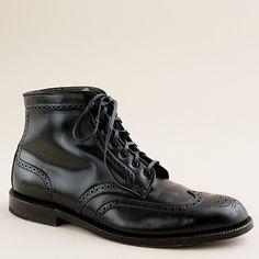 Alden Black Cordovan Wingtip Boots.
