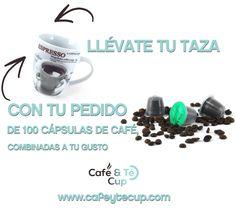 Al realizar tu pedido de cápsulas, llévate esta taza para tus cafés.