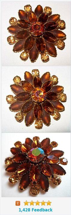 "Judy Lee Cluster Brooch Signed 3 Tiers Mink Topaz Rhinestones Gold Metal Flower Cluster 2"" Vintage https://www.etsy.com/BrightgemsTreasures/listing/498911502/judy-lee-cluster-brooch-signed-3-tiers?ref=related-6"