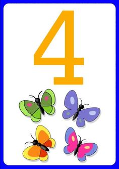 Numbers For Kids, Numbers Preschool, Math Numbers, Preschool Classroom, Preschool Worksheets, Letters And Numbers, Number Flashcards, Flashcards For Kids, Animated Numbers