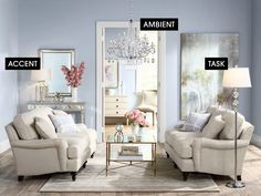 Michael Murphy, an interior designer and Trends Producer for Lamps Plus says it's all about striking the right balance between these three must-have types of lighting — ambient, task, and accent.