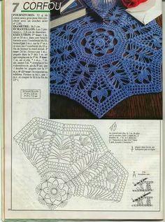 1000 Mailles № 143 — Yandex. Free Crochet Doily Patterns, Crochet Mandala, Crochet Diagram, Filet Crochet, Crochet Motif, Crochet Doilies, Knit Crochet, Crochet Stars, Thread Crochet