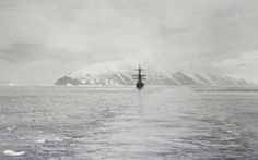 Return voyage, 1904. Cape Adare from N to NNE, the Terra Nova in the forground.