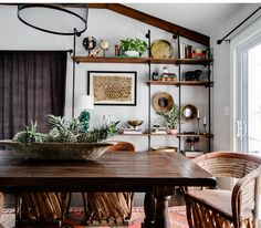 Cross the Border: Laid-back southwest cool with equipale chairs via Design Sponge | Scotch and Nonsense