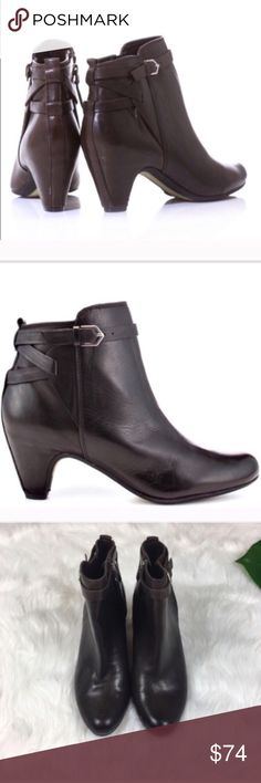 4c4a7ecc70c Sam Edelman Maddox Booties Sam Edelman Maddox Booties in dark brown. Size 7  with heel. Good used condition only worn once or twice and has minimal  scuffing.