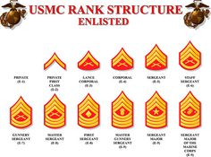 USMC rank structure enlisted. In case anyone wondered.