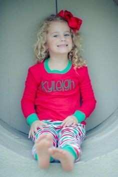 Personalized Cotton Christmas Jammies 2017