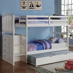 Twin Standard Bunk Bed with Trundle