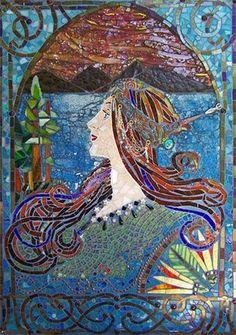 mosaic lady #design #mosaic