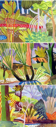 jennifer tyers - watercolor plein air paintings <3