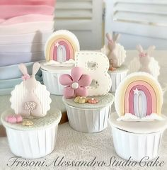 Cupcake Cake Designs, Cupcake Cakes, Baby Shower Cupcakes, Fondant, Jar, Desserts, Food, Decor, Tailgate Desserts