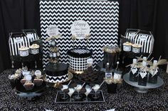 New Year's party dessert table!  See more party planning ideas at CatchMyParty.com!