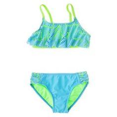 c629a1bac6 Girls' 2-Piece Ruffled Bandeau Bikini Swimsuit Set : Target Mobile Girls Bathing  Suits