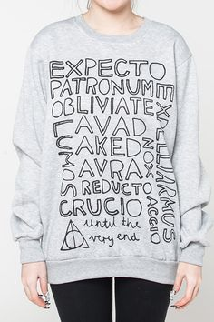 Sadly you can't use a Summoning Charm to accrue this cozy Harry Potter sweatshirt.