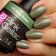 Pink Gellac 115 Army Green gellak hand