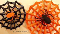 Decoración para Halloween/Día de los Muertos, Tela de Araña, Paper spide...