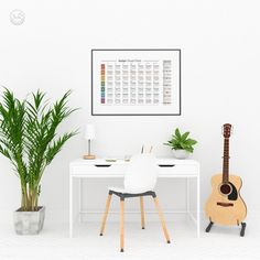 Guitar Chord Chart Fretboard Poster Song Key Guitar Chords   Etsy Guitar Chord Chart, Guitar Chords, Printing Services, Online Printing, Printable Art, Printables, International Paper Sizes, Simple Rules, Music Education