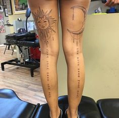 30 Sun And Moon Tattoo Designs And Their Meanings – EntertainmentMesh Tattoos Bein, Sun Tattoos, Dope Tattoos, Dream Tattoos, Nature Tattoos, Unique Tattoos, Body Art Tattoos, Sleeve Tattoos, Celtic Tattoos