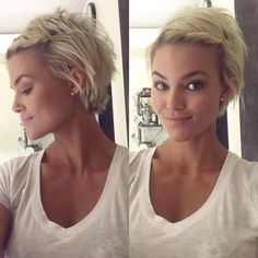 Cool short pixie blonde hairstyle ideas 7