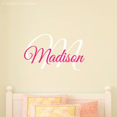 Child's Monogram Name Wall Decal  Fancy Wall by michellechristina, $19.50