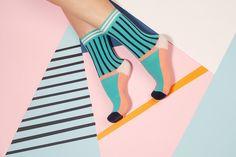 photography Sammy Icon SS 17 socks on Behance Sammy Icon SS 17 socks on Behance Silly Socks, Crazy Socks, Cute Socks, Happy Socks, Memphis Design, Novelty Socks, Instagram Design, Patterned Socks, Designer Socks