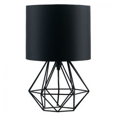 Geometric retro style wire cage table lamps bedside lights copper angus geometric table lamp with coloured shade greentooth Choice Image