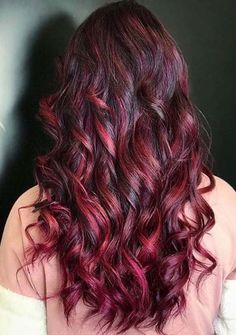 Beautiful Red Long Waves Hair Styles for Every Woman in 2020 Latest Hairstyles, Black Women Hairstyles, Hairstyles Haircuts, Pretty Hairstyles, Hair Color Highlights, Red Hair Color, Hair Color Balayage, Cool Haircuts For Girls, Shades Of Red Hair
