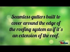 What are Seamless Gutters - YouTube