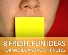 8 ideas for vocabulary words and Post-It Notes