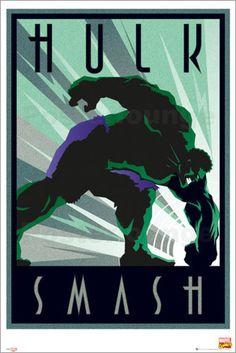 Marvel - Retro Hulk - Comicposter