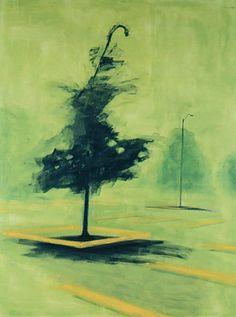 "Shirley Wiitasalo, ""park"", 1992, Oil on Canvas, 203.2X152.4cm"