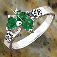 Stainless Love Knot Shamrock Ring