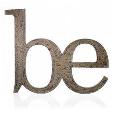 "Dekobuchstaben ""BE"" #deco #letter #be #tall #big #impressionen #vintage #shabby #chic"