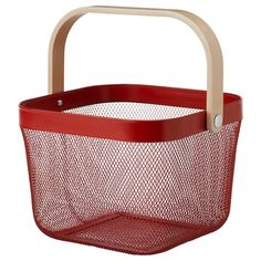 Keep your kitchen clean with IKEA's wall organization solutions featuring rails, hooks, hanging containers and baskets -- perfect for linen and utensil storage. Wire Baskets, Storage Baskets, Zara Home, Ikea Brusali, How To Clean Silver, Home Grown Vegetables, Utility Cart, 61 Kg, Shopping