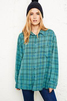 Vintage Renewal Overdyed Tartan Flannel Shirt http://uoeur.pe/uorenewal #UrbanOutfittersEurope #Vintage