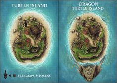 Dragon Turtle Island Maps : battlemaps