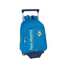 Real Madrid - Mochila pequeña infantil con ruedas, 27 x 34 x 10 cm, color azul (Safta 611456020): Amazon.es: Equipaje Real Madrid, Color Azul, Backpacks, Bags, Small Backpack, Briefcases, Baggage, Wheels, Products