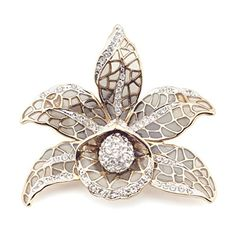 Deco Orchid Brooch by Jeremy Tosh l £125 l V&A Shop #Christmas #Jewellery