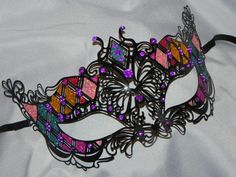 New to TheCraftyChemist07 on Etsy: Multi Colored Metallic Masquerade Mask - Rainbow Mask (29.95 USD)