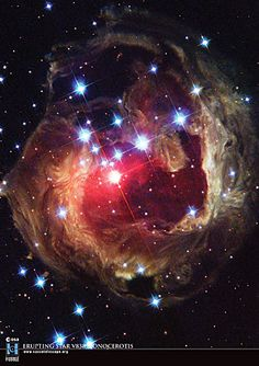 V838 Monocerotis, aka Starry Night, a red variable star in the constellation of Monoceros about 20,000 light years away