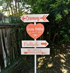 Rustic Wedding Signs Wedding Directional Sign by OneCoopedChick