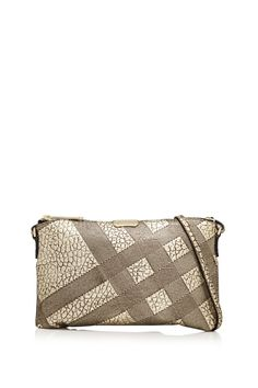 BURBERRY Signature Grain Check Metallic Clutch Bag | REEBONZ THAILAND saved by #ShoppingIS