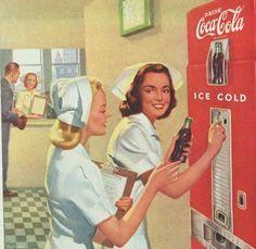 Nurses drink Coca Cola ad