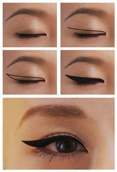 Winged Eyeliner for Monolids